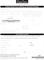 Download the EvaCare® Patient Rx Order Form